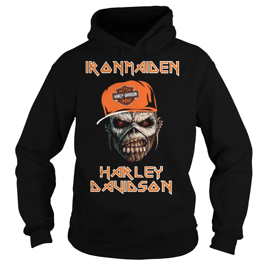 Iron maiden Harley Davidson skull Hoodie