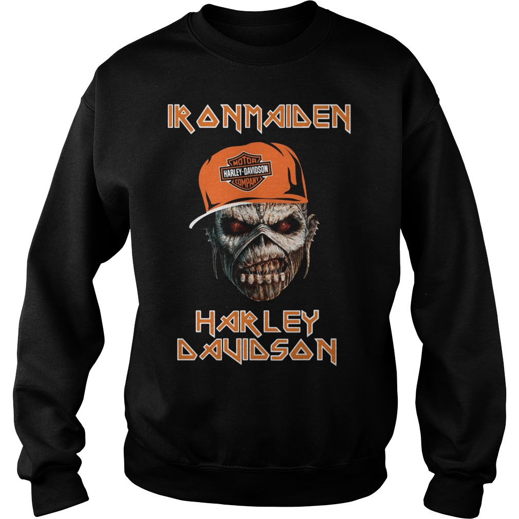 Iron maiden Harley Davidson skull Sweater
