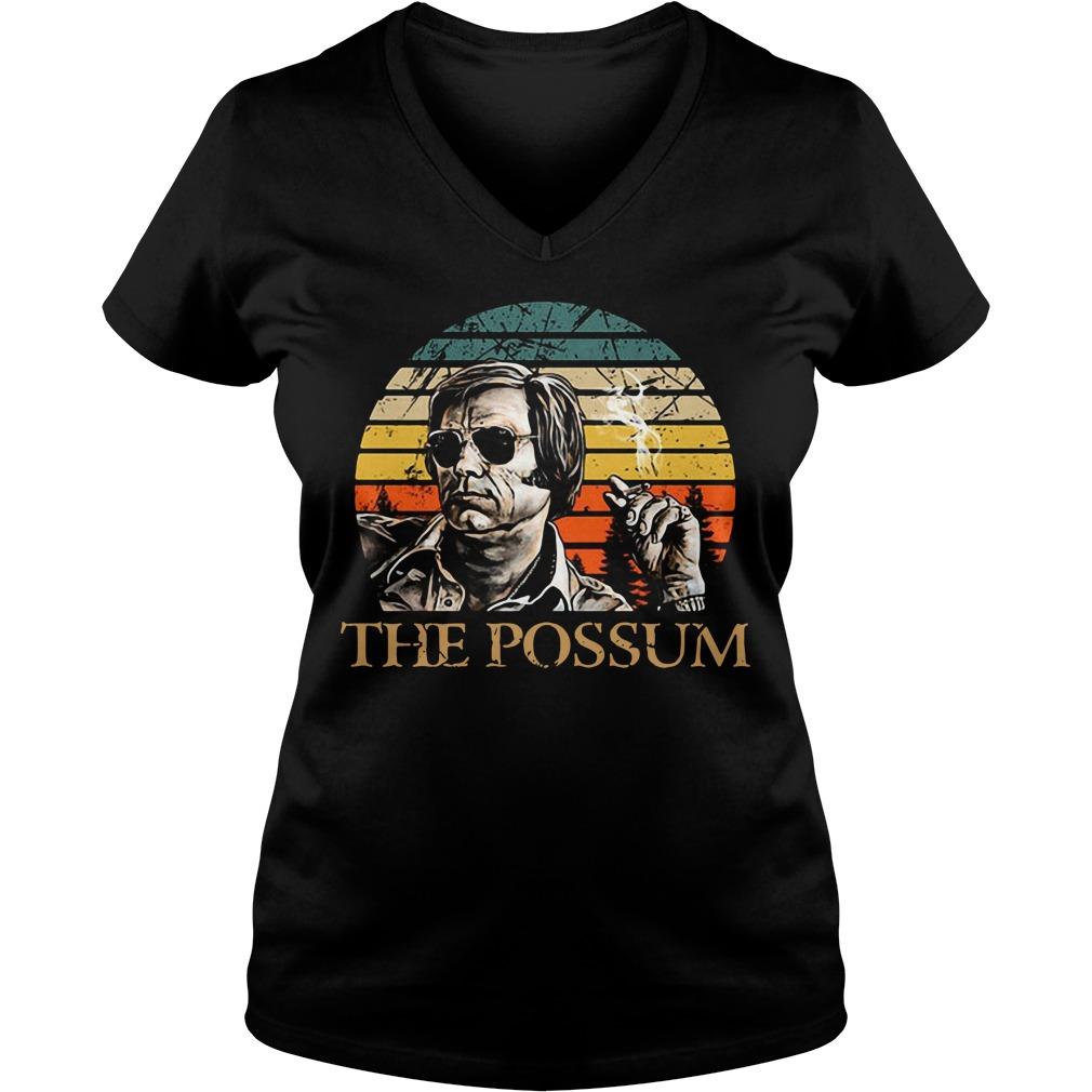 Jim Jones the Possum vintage V-neck T-shirt