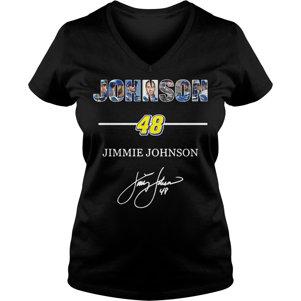 Johnson 48 Jimmie Johnson signature V-neck T-shirt