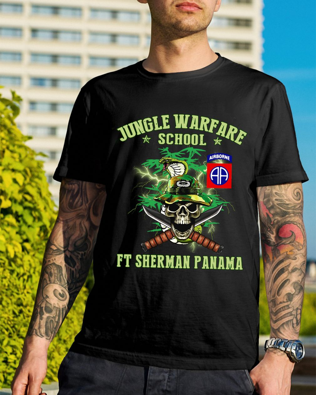 Jotc Airborne Jungle Warfare school Ft Sherman Panama shirt