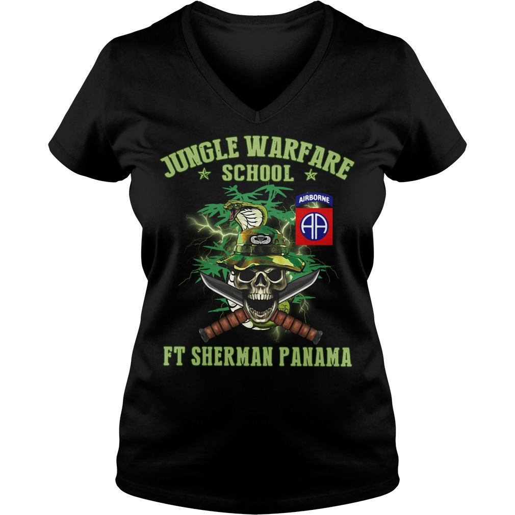 Jotc Airborne Jungle Warfare school Ft Sherman Panama V-neck T-shirt