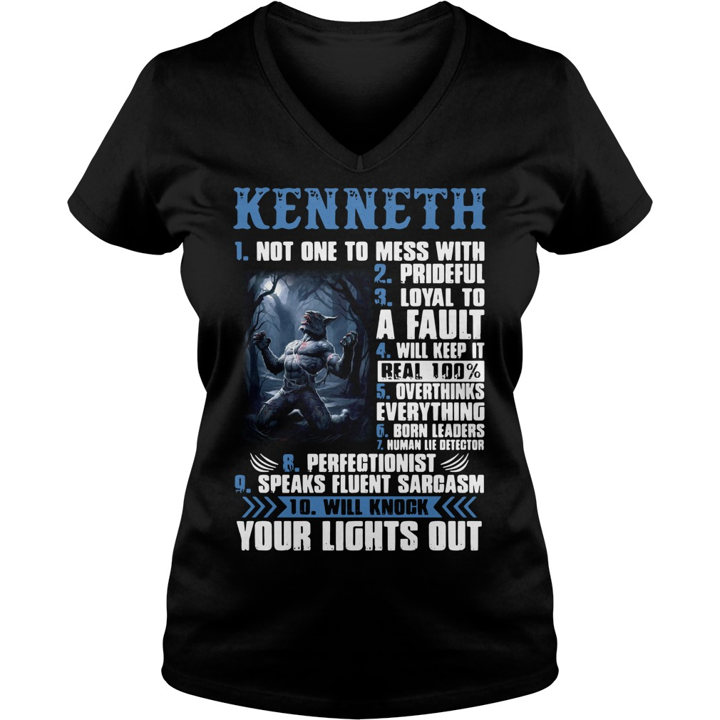 Kenneth not one to mess with prideful loyal to a fault V-neck T-shirt