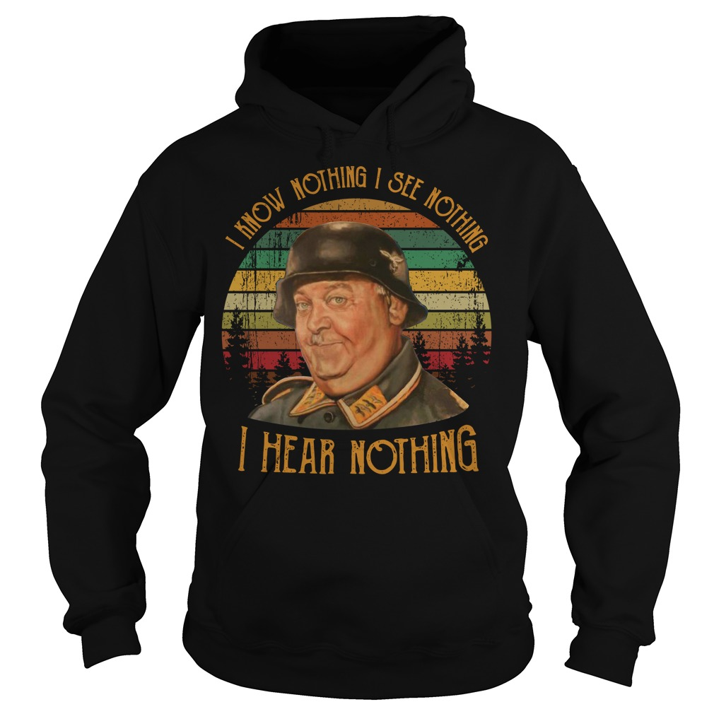I know nothing I see nothing I hear nothing vintage Hoodie