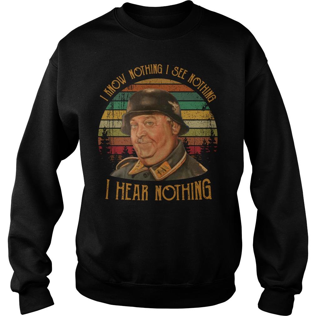 I know nothing I see nothing I hear nothing vintage Sweater