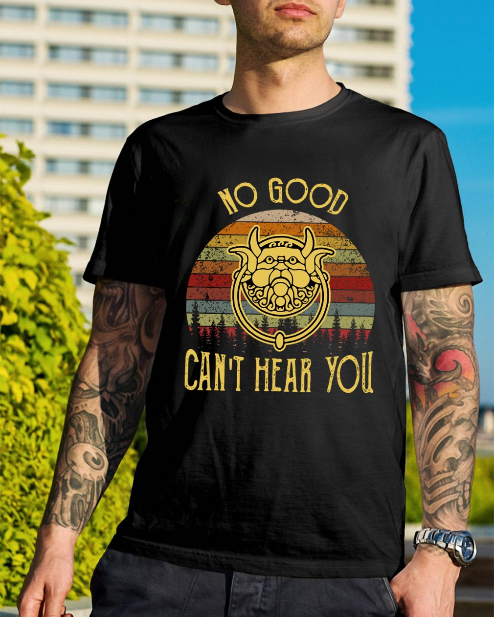 Labyrinth no good can't hear you sunset retro shirt