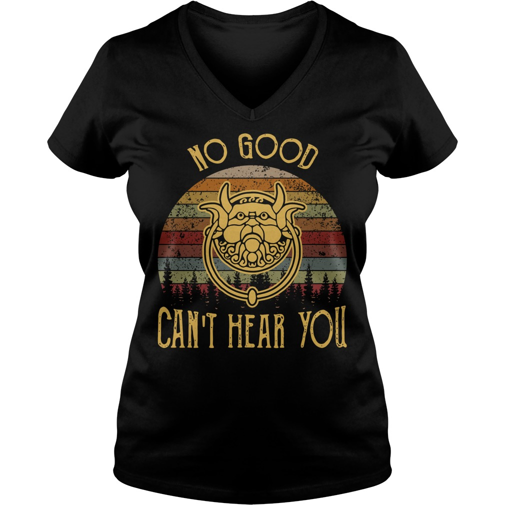 Labyrinth no good can't hear you sunset retro V-neck T-shirt