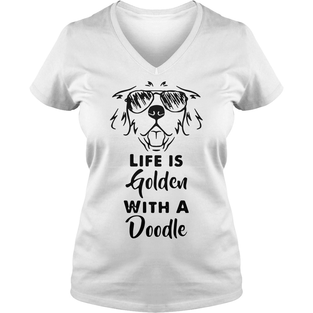 Life is golden with a Doodle V-neck T-shirt