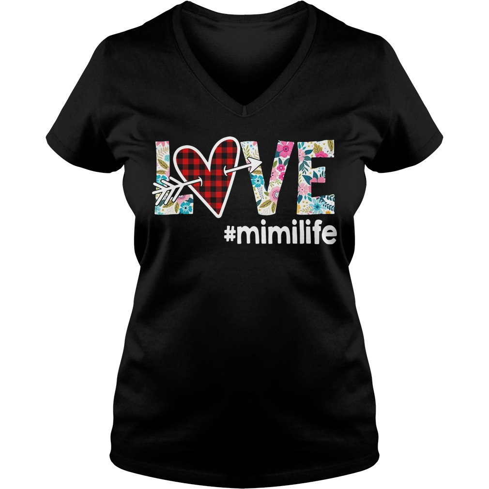 Love #mimilife V-neck T-shirt