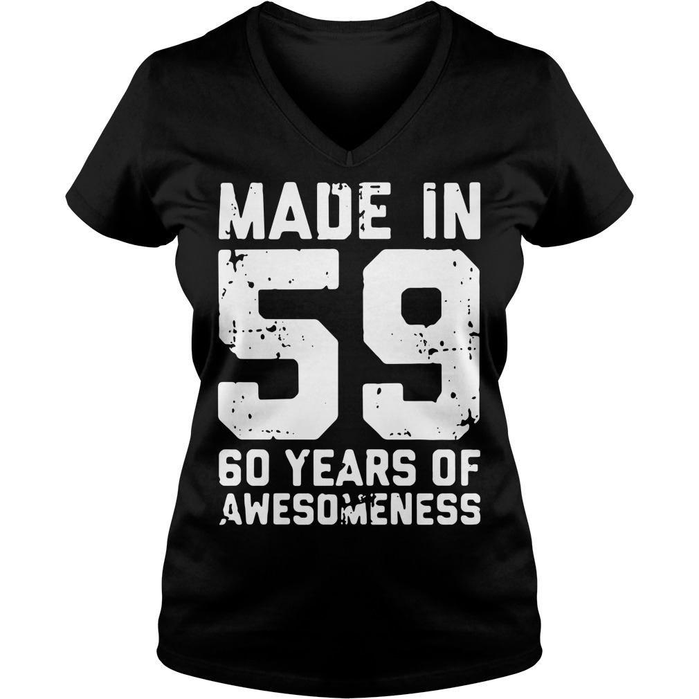 Made in 59 60 years of awesomeness V-neck T-shirt