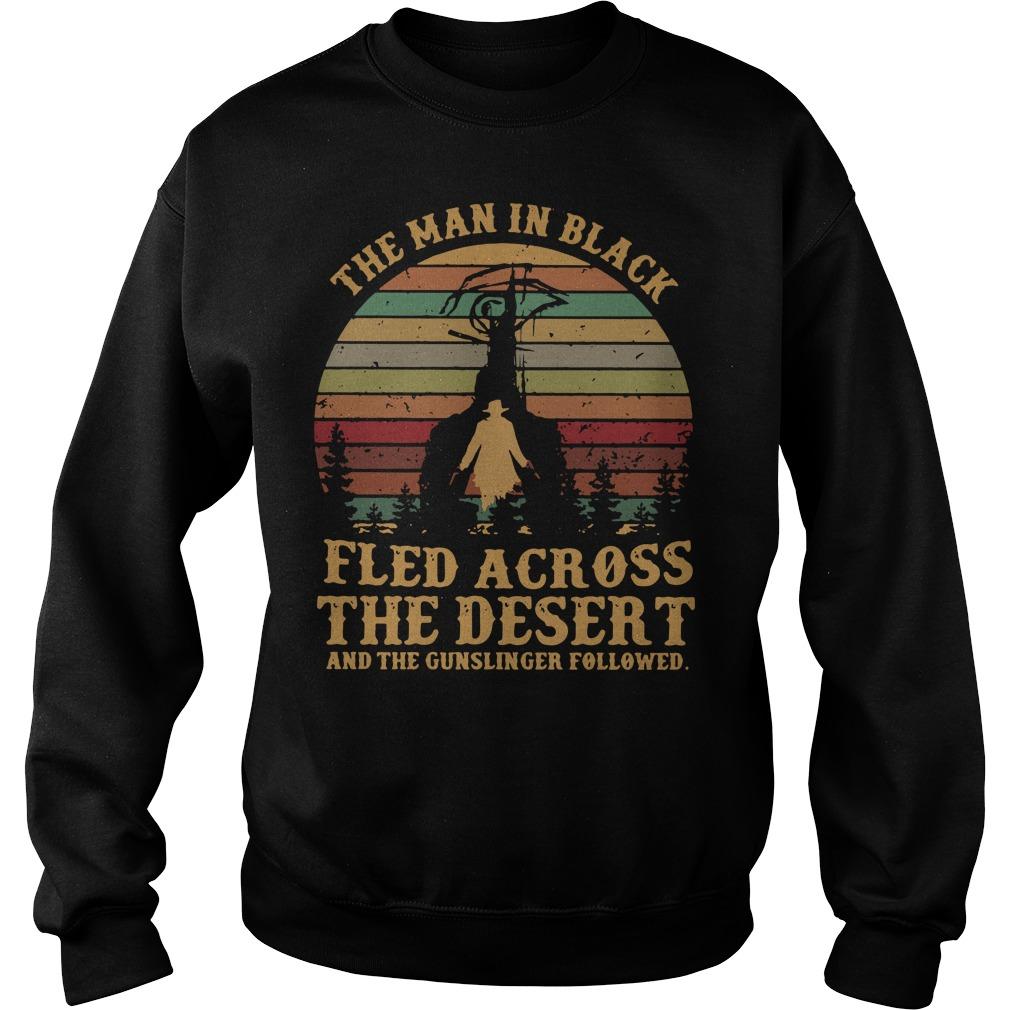 The man in black fled across the desert and the gunslinger Sweater