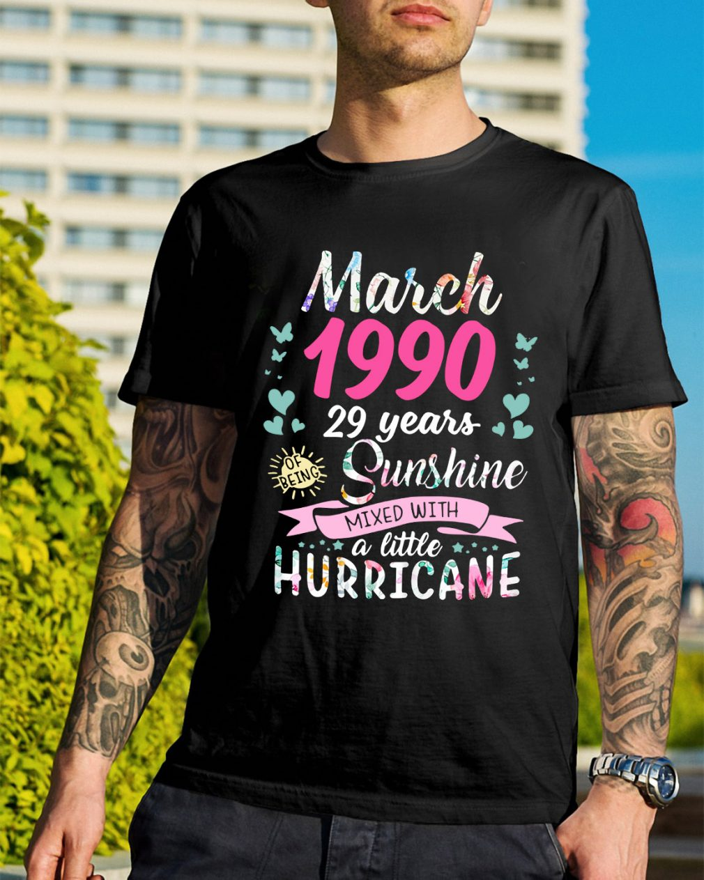 March 1990 29 years sunshine mixed with a little hurricane shirt