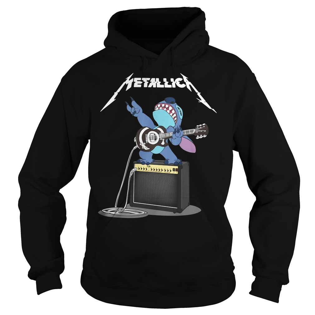 Metallica Stitch play guitar Hoodie