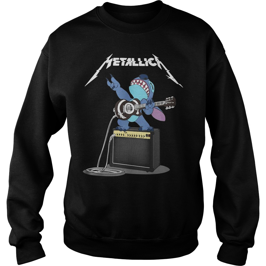 Metallica Stitch play guitar Sweater