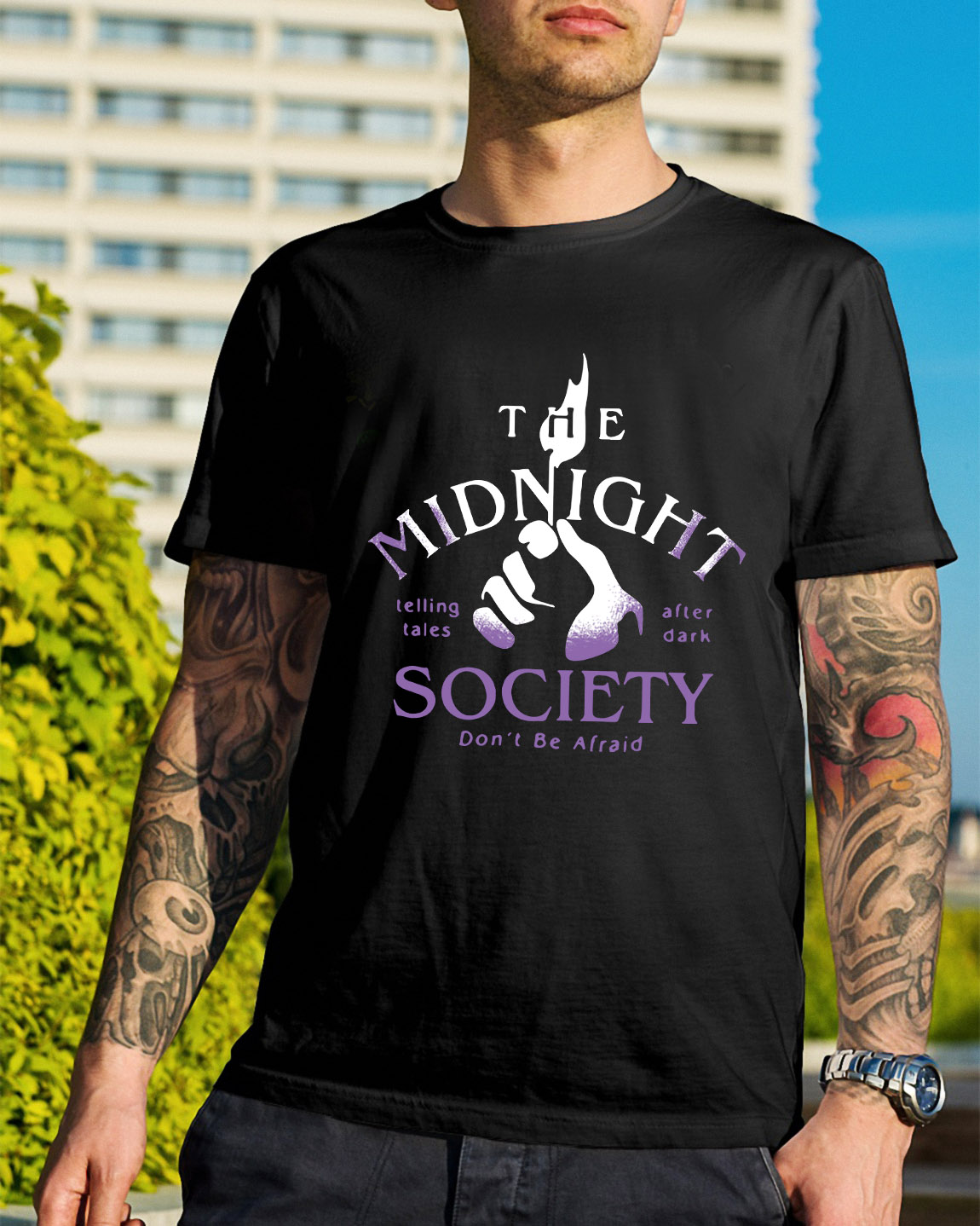 93f6f9404 The midnight telling tales after dark society don't be afraid shirt ...
