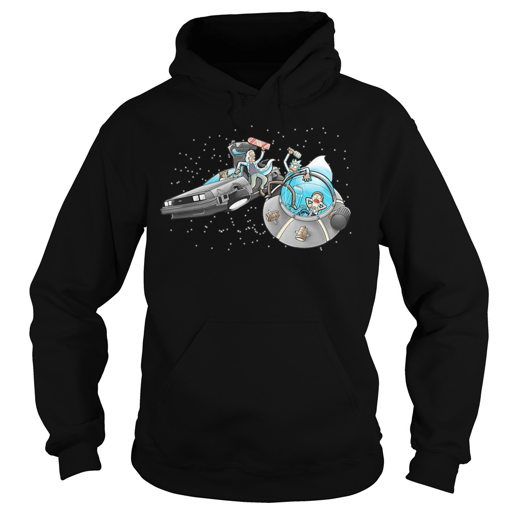 Morty vs Marty back to the future Hoodie