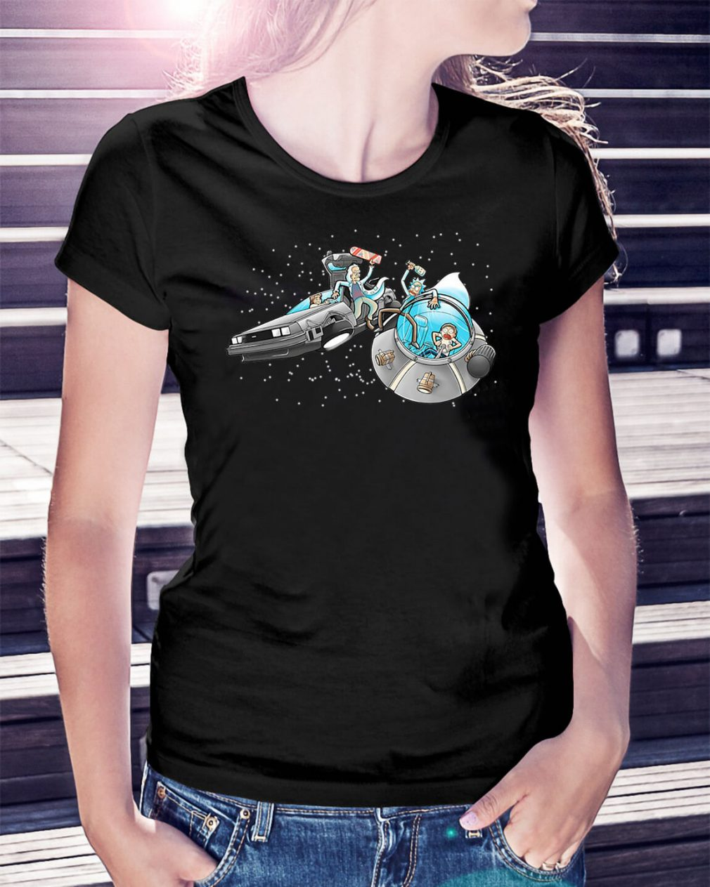 Morty vs Marty back to the future Ladies Tee