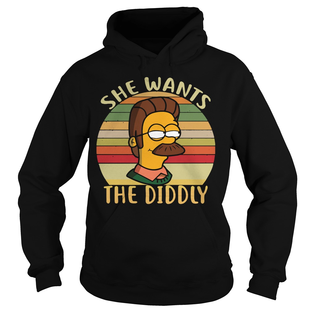 Ned Flanders she wants the Diddly sunset retro Hoodie