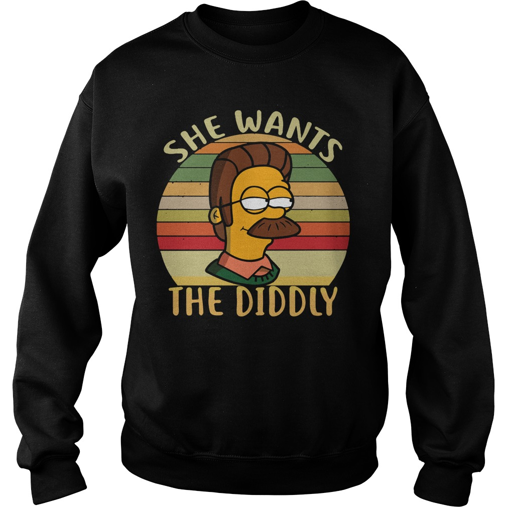 Ned Flanders she wants the Diddly sunset retro Sweater