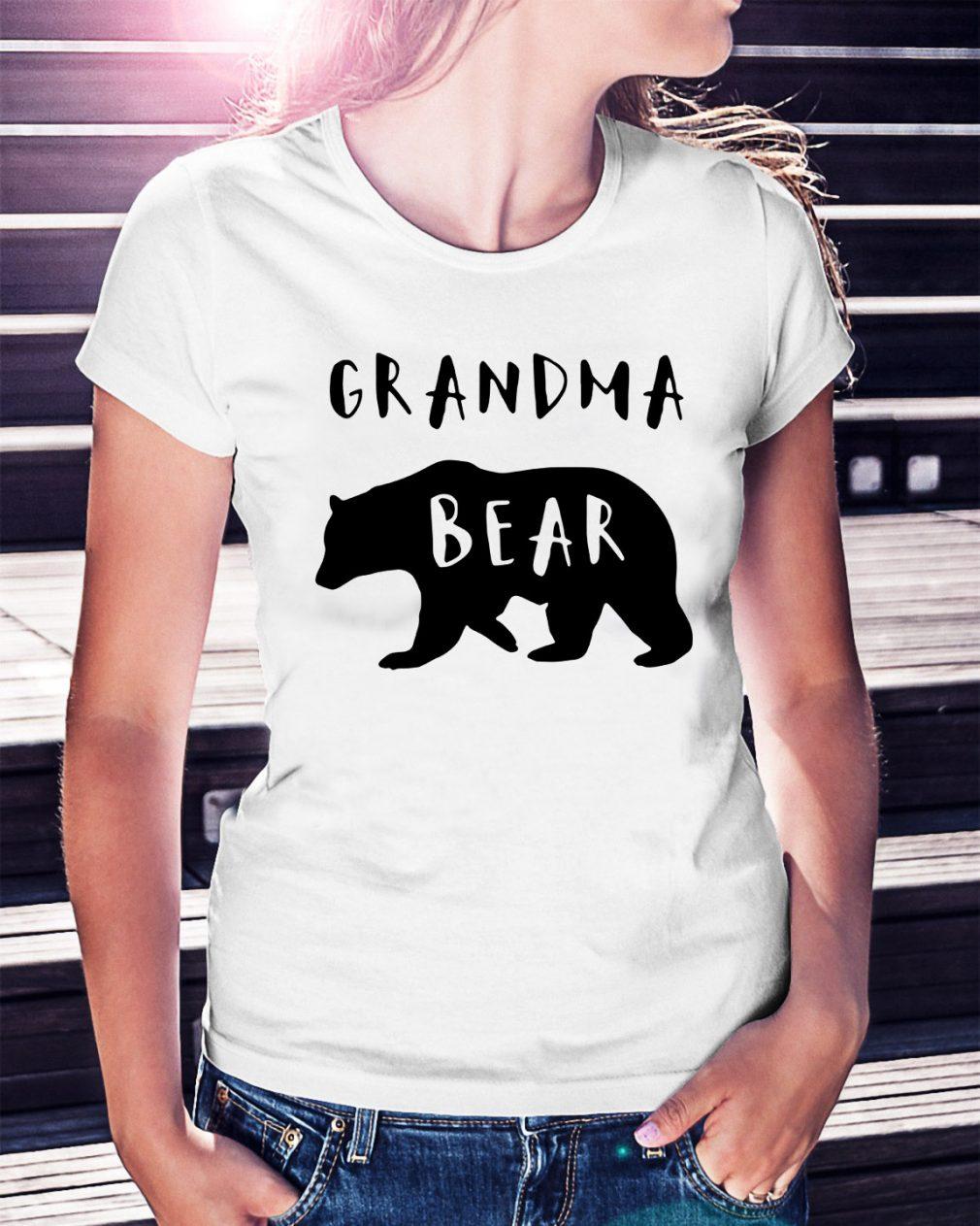 Official Grandma bear Ladies Tee