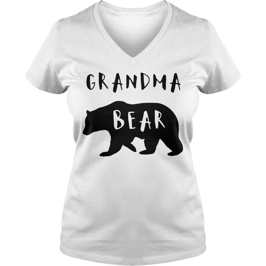 Official Grandma bear V-neck T-shirt