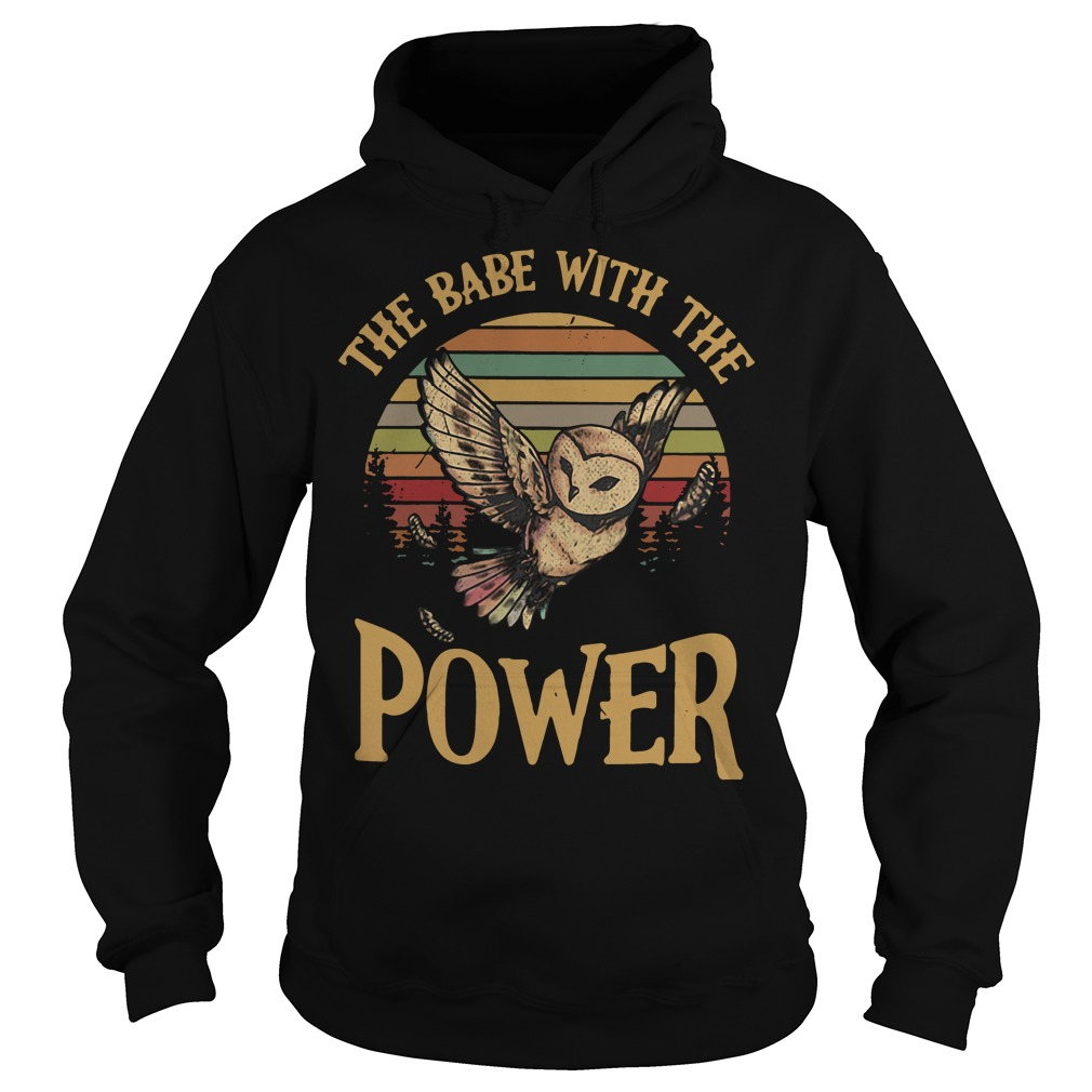 Owl the babe with the power sunset retro Hoodie
