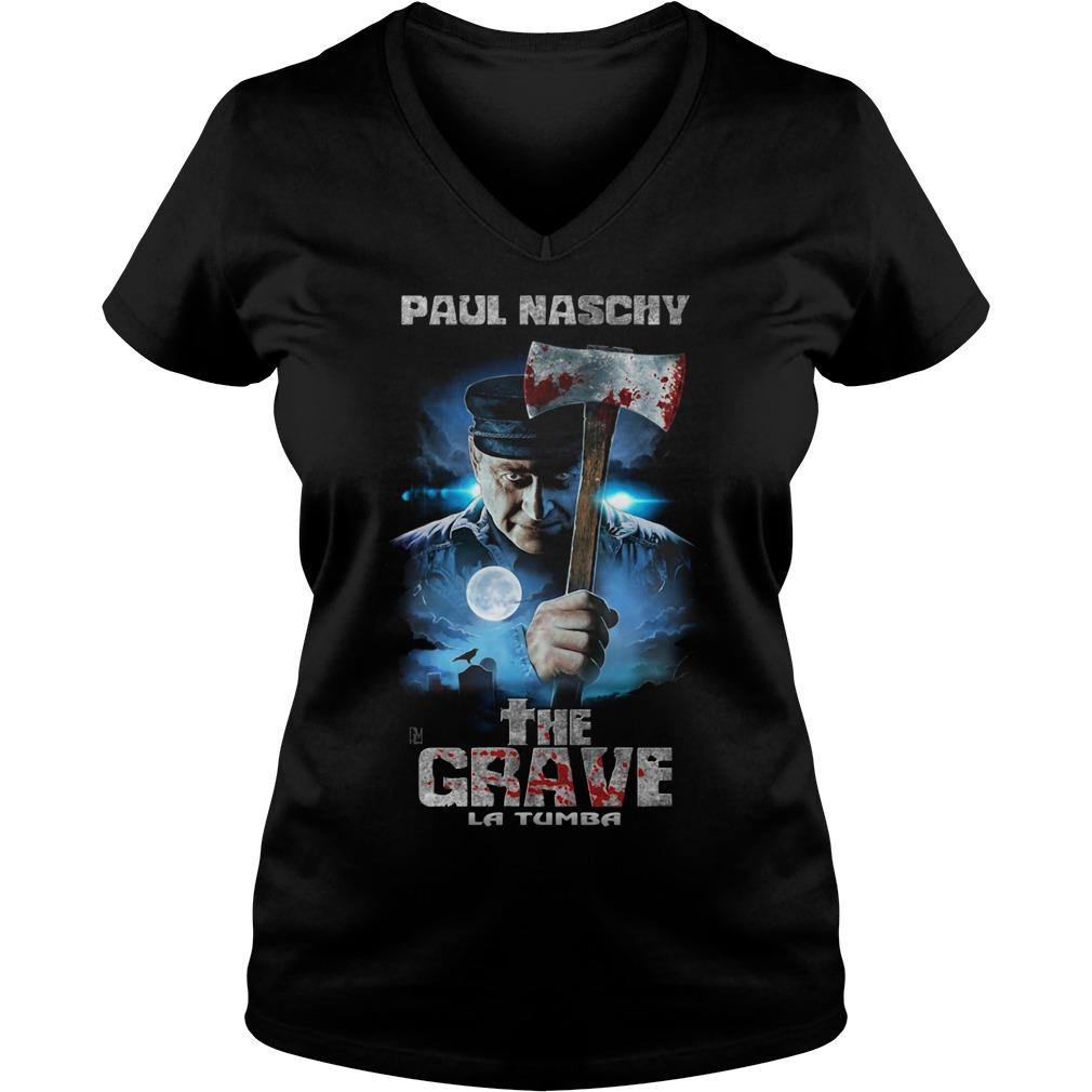 Paul Naschy the Grave La Tumba V-neck T-shirt