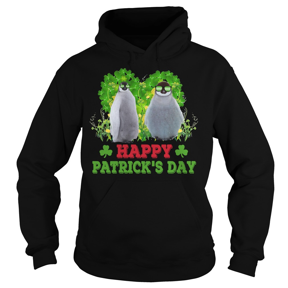 Penguin Happy Patricks day Hoodie