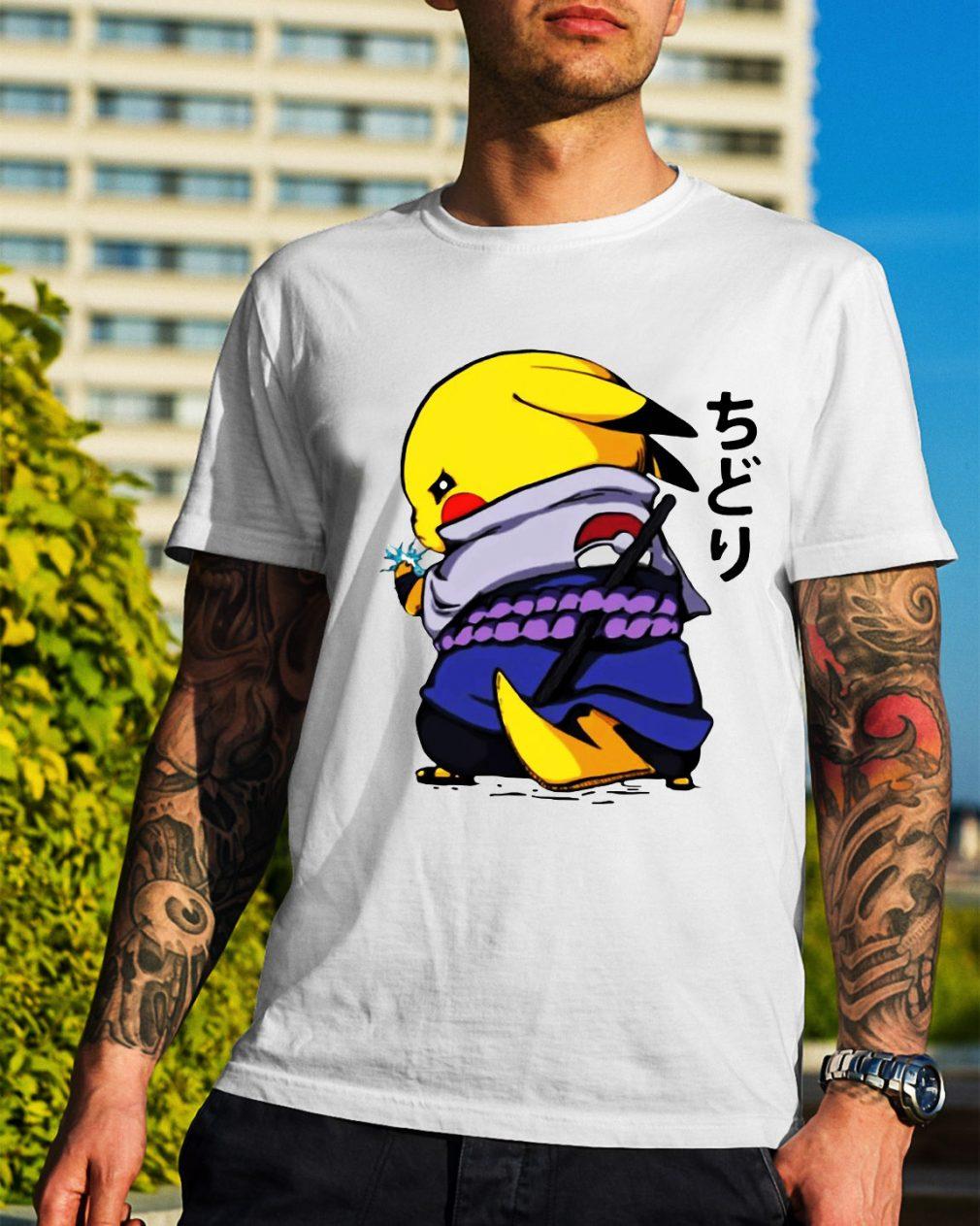 Pikachu Sasuke Naruto Chidori shirt