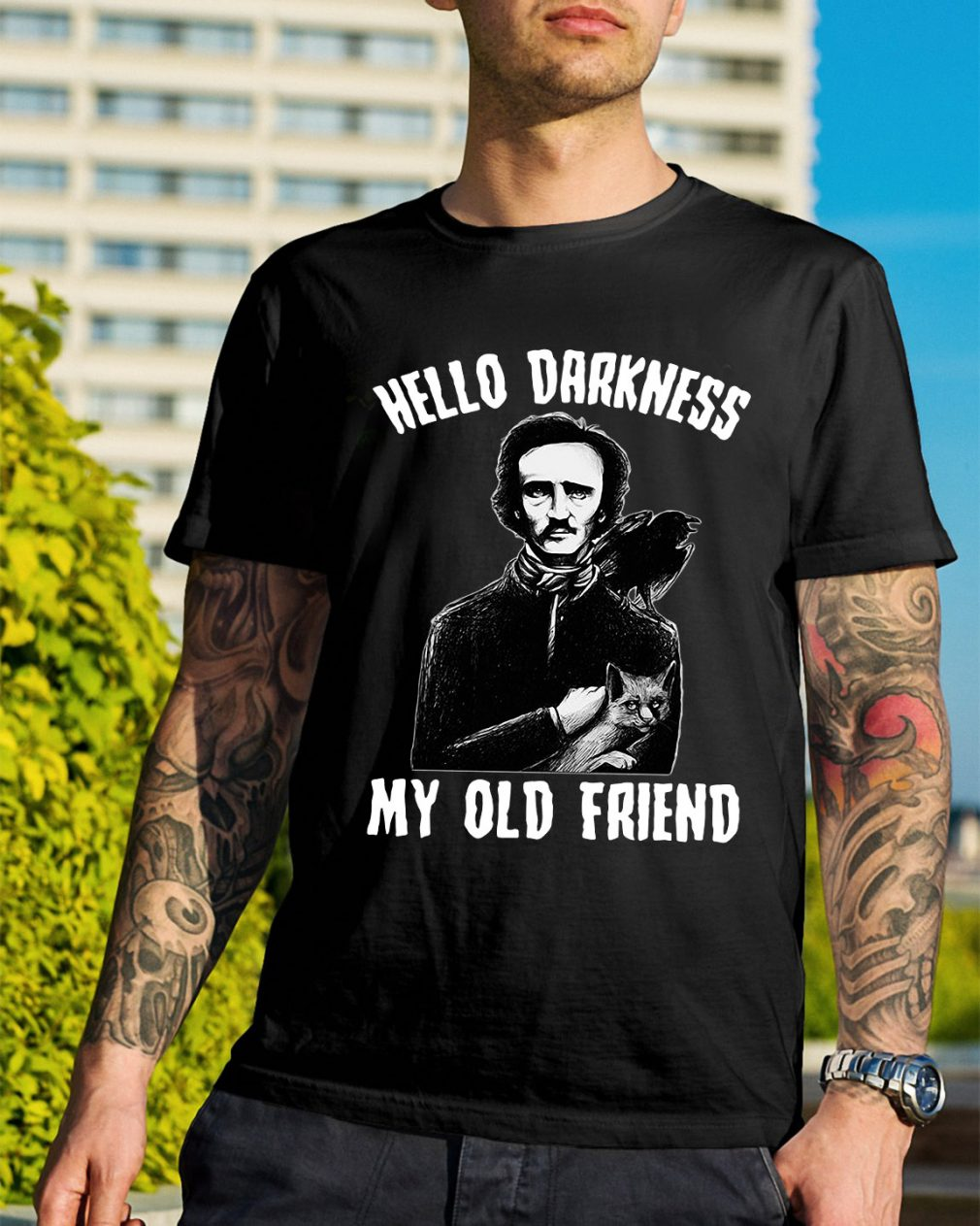 Poe hello Darkness my old friend shirt