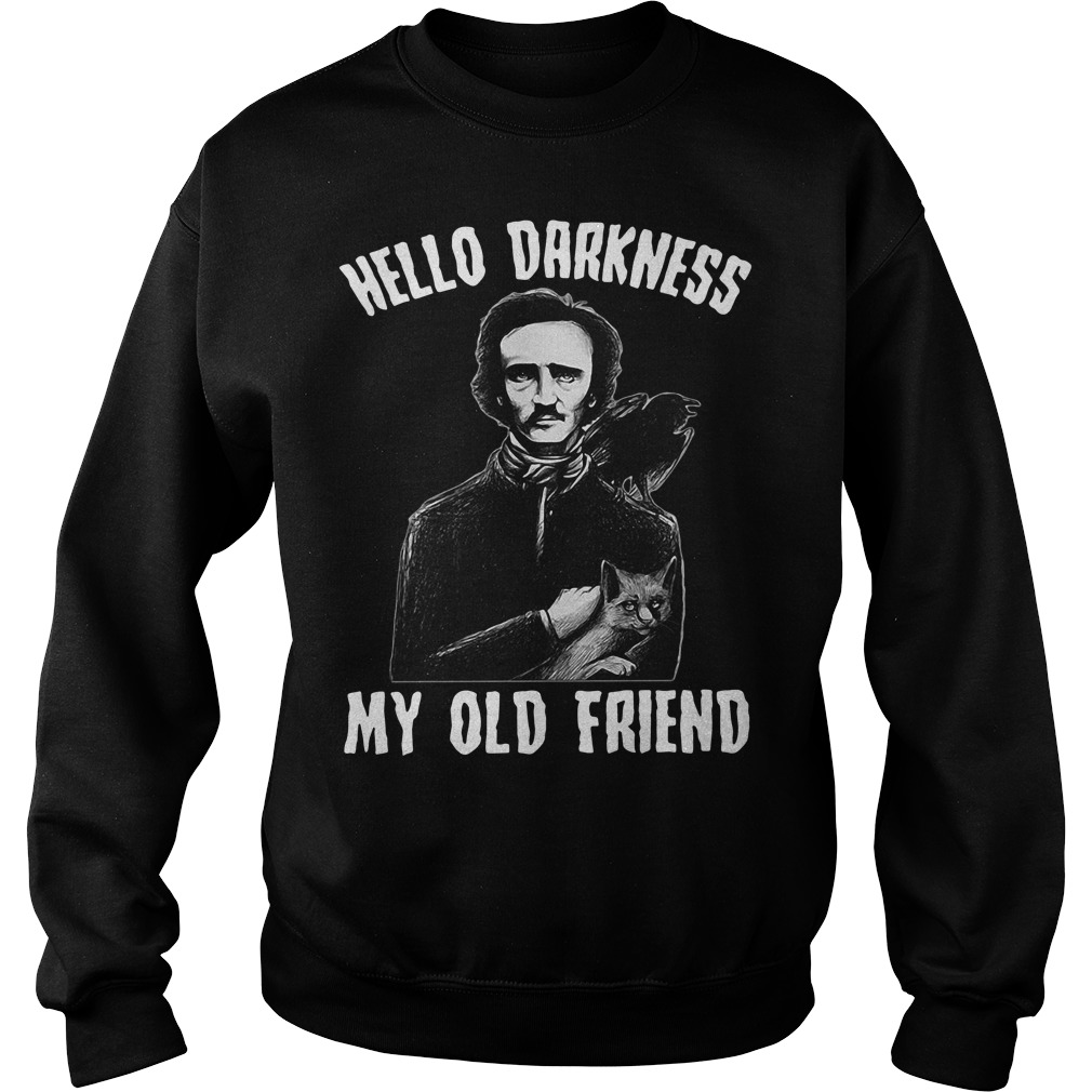 Poe hello Darkness my old friend Sweater