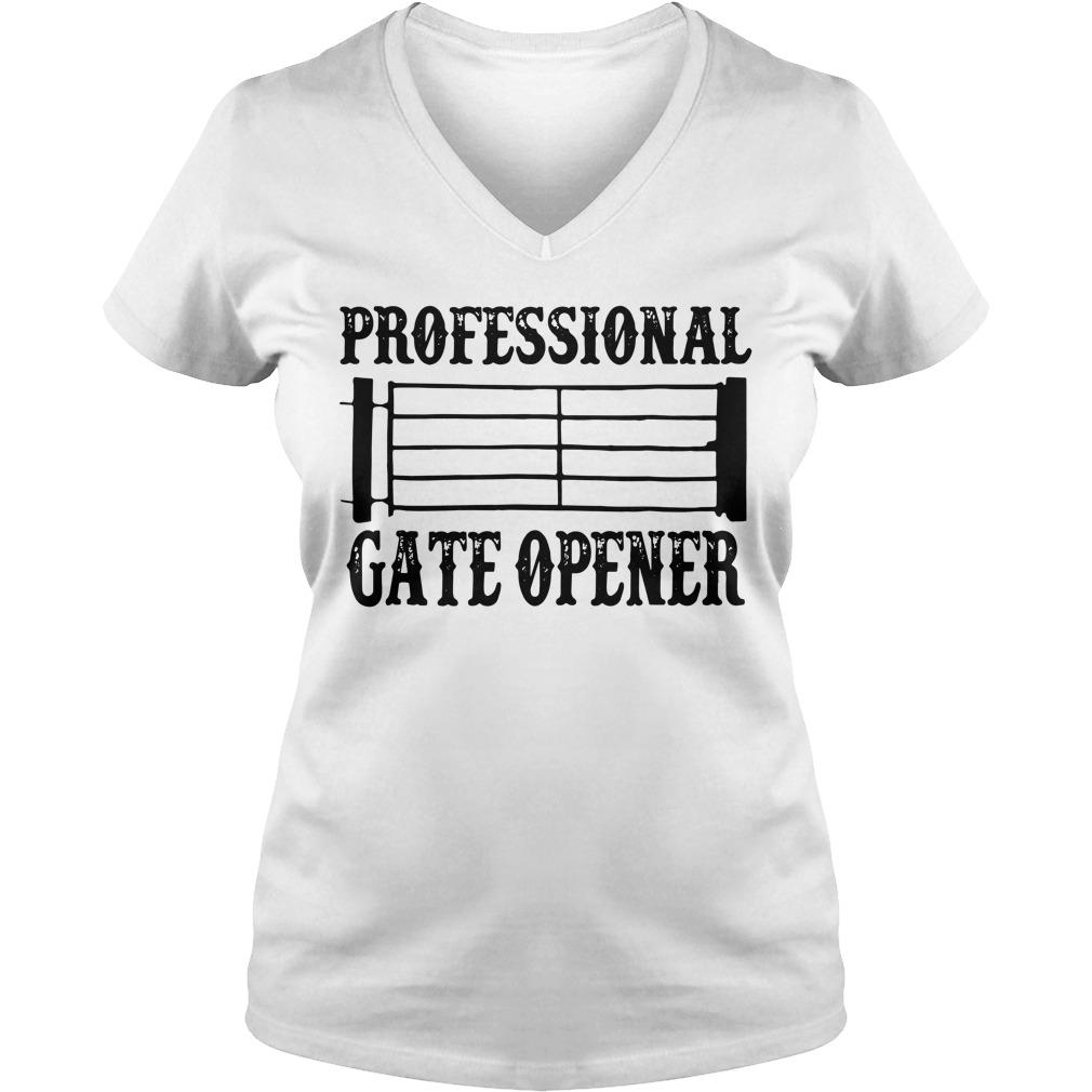 Professional gate opener Staves V-neck T-shirt