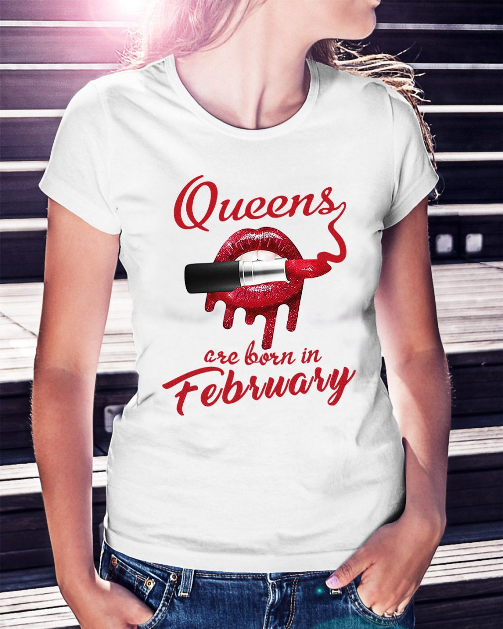 Queens are born in February Ladies Tee