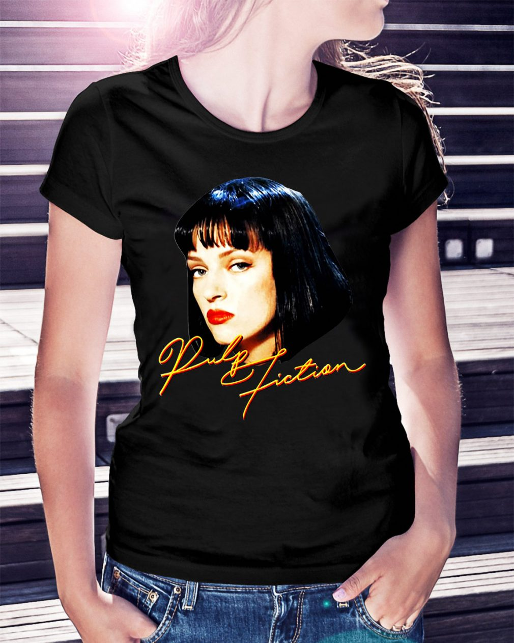 Quentin movie Pulp fiction Ladies Tee