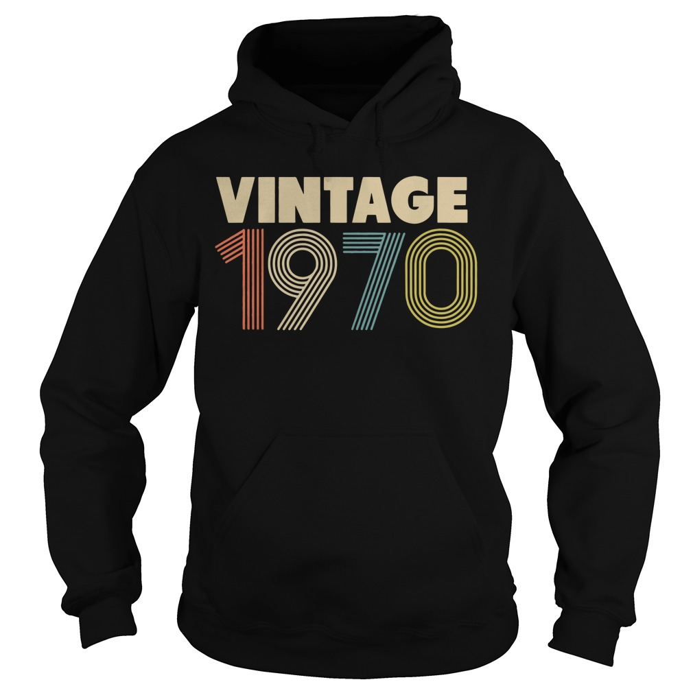 Retro Vintage 1970 48th Birthday Hoodie