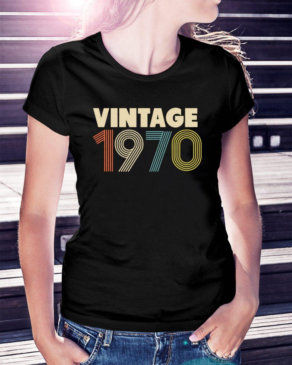 Retro Vintage 1970 48th Birthday Ladies Tee