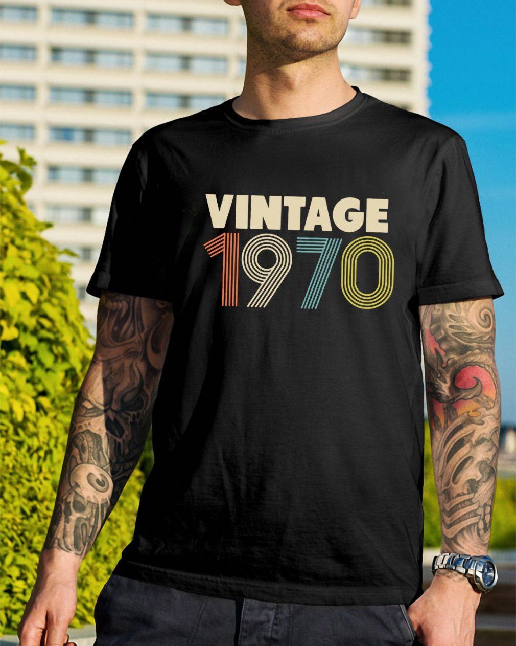 Retro Vintage 1970 48th Birthday shirt