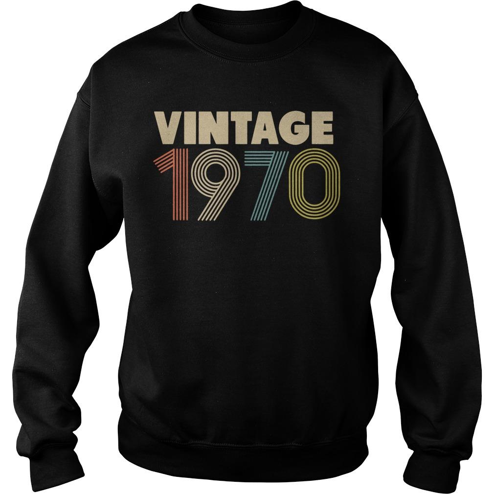 Retro Vintage 1970 48th Birthday Sweater