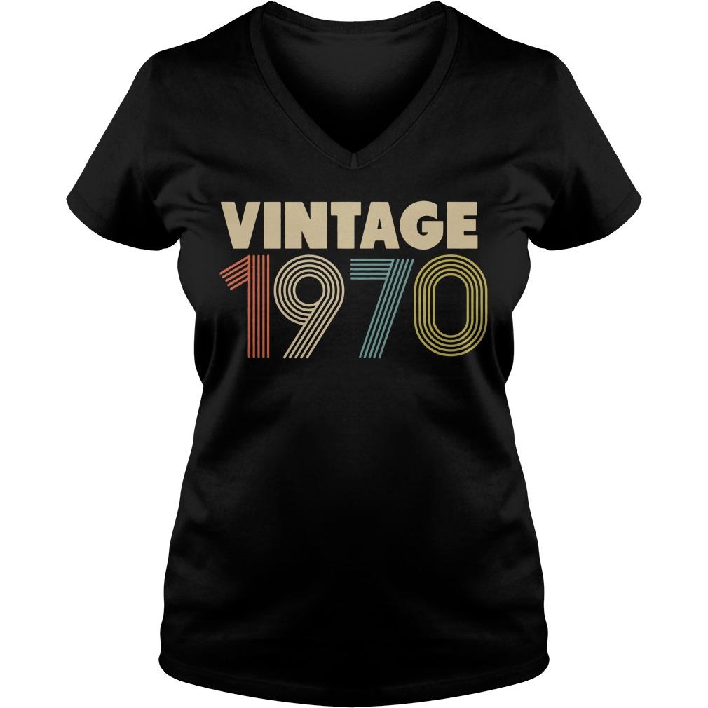 Retro Vintage 1970 48th Birthday V-neck T-shirt