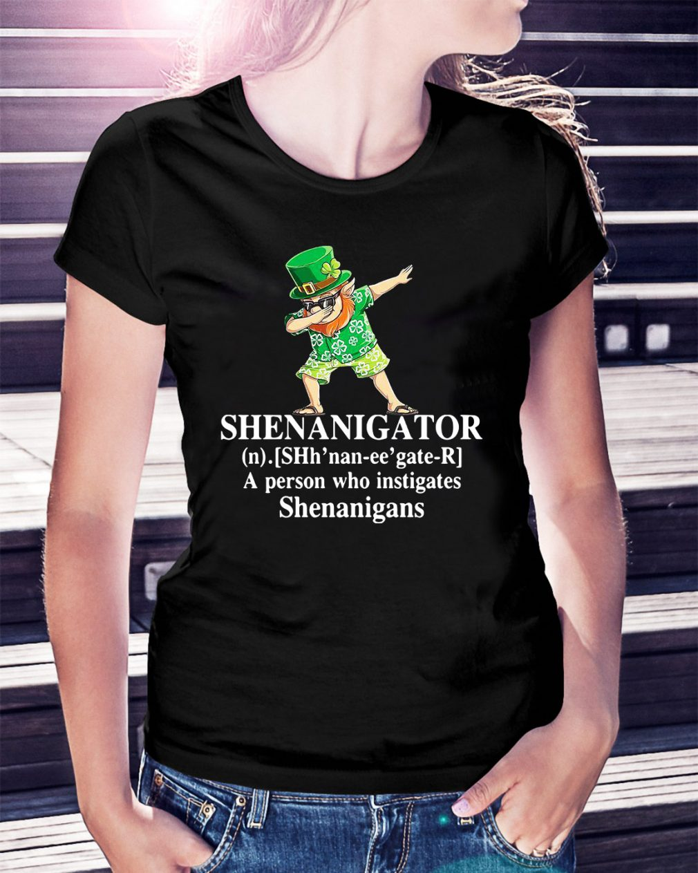 Shenanigator definition a person who instigates Shenanigans Ladies Tee