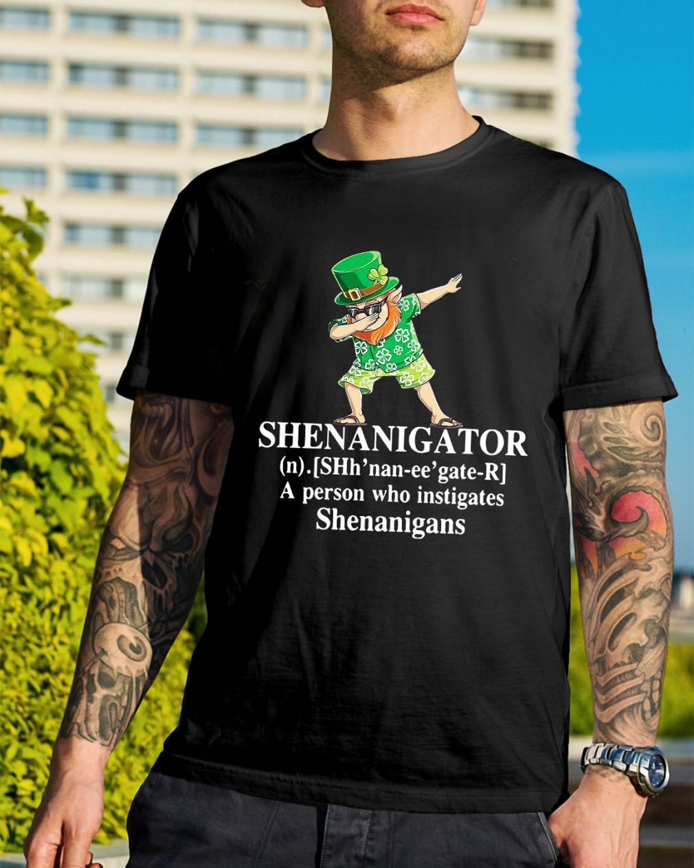 Shenanigator definition a person who instigates Shenanigans shirt