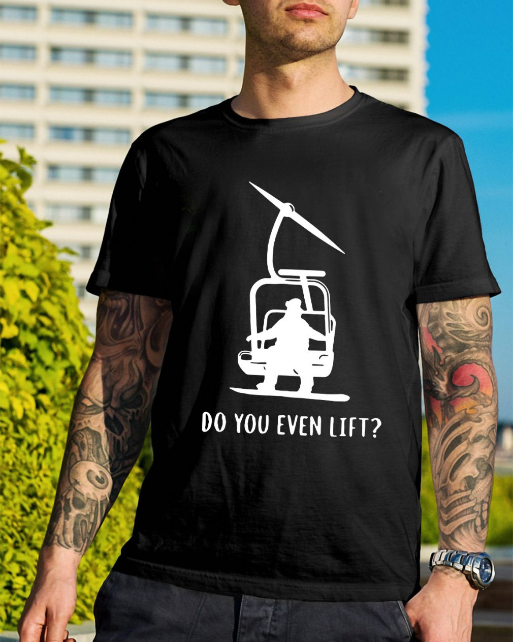 Snowboard skier snow do you even lift shirt