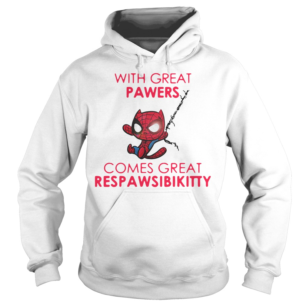 Spider Cat with great Pawers comes great Respawsibikitty Hoodie