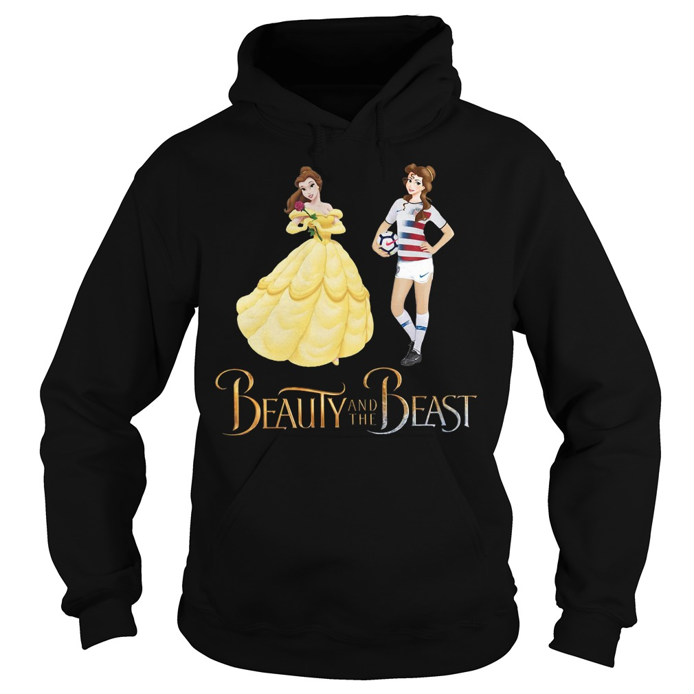 Sports soccer beauty and the beast Hoodie