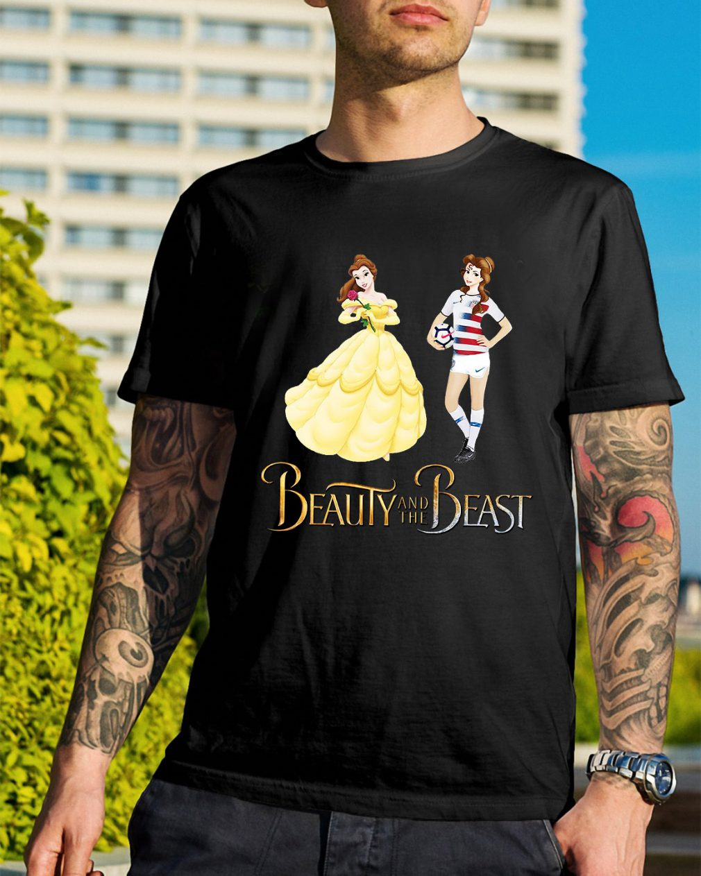 Sports soccer beauty and the beast shirt