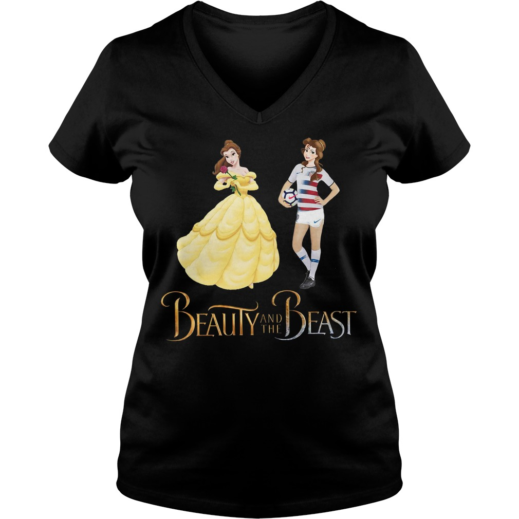 Sports soccer beauty and the beast V-neck T-shirt