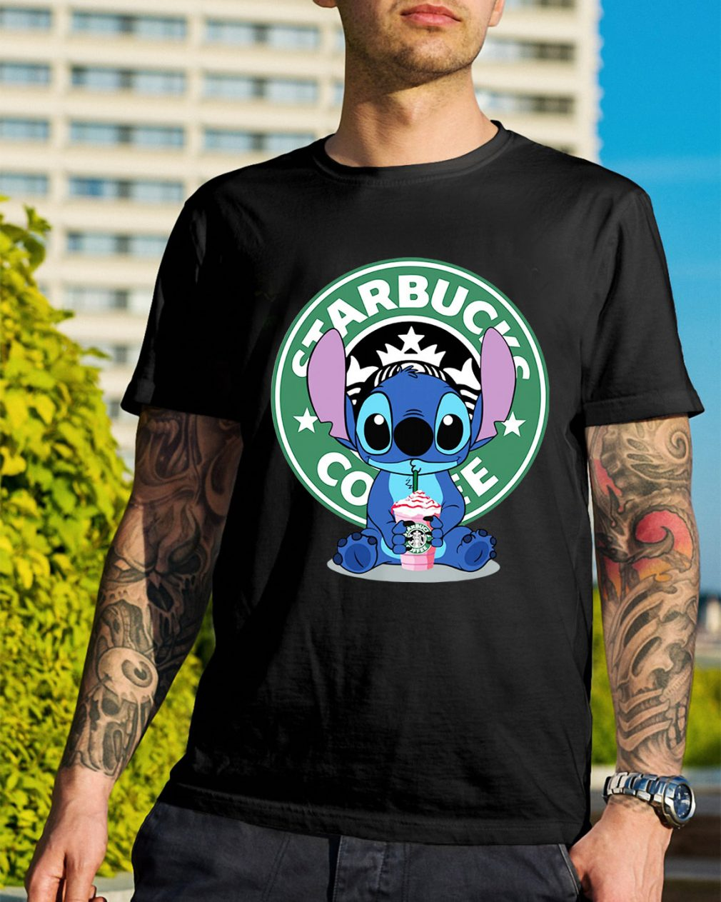Stitch Starbucks coffee shirt