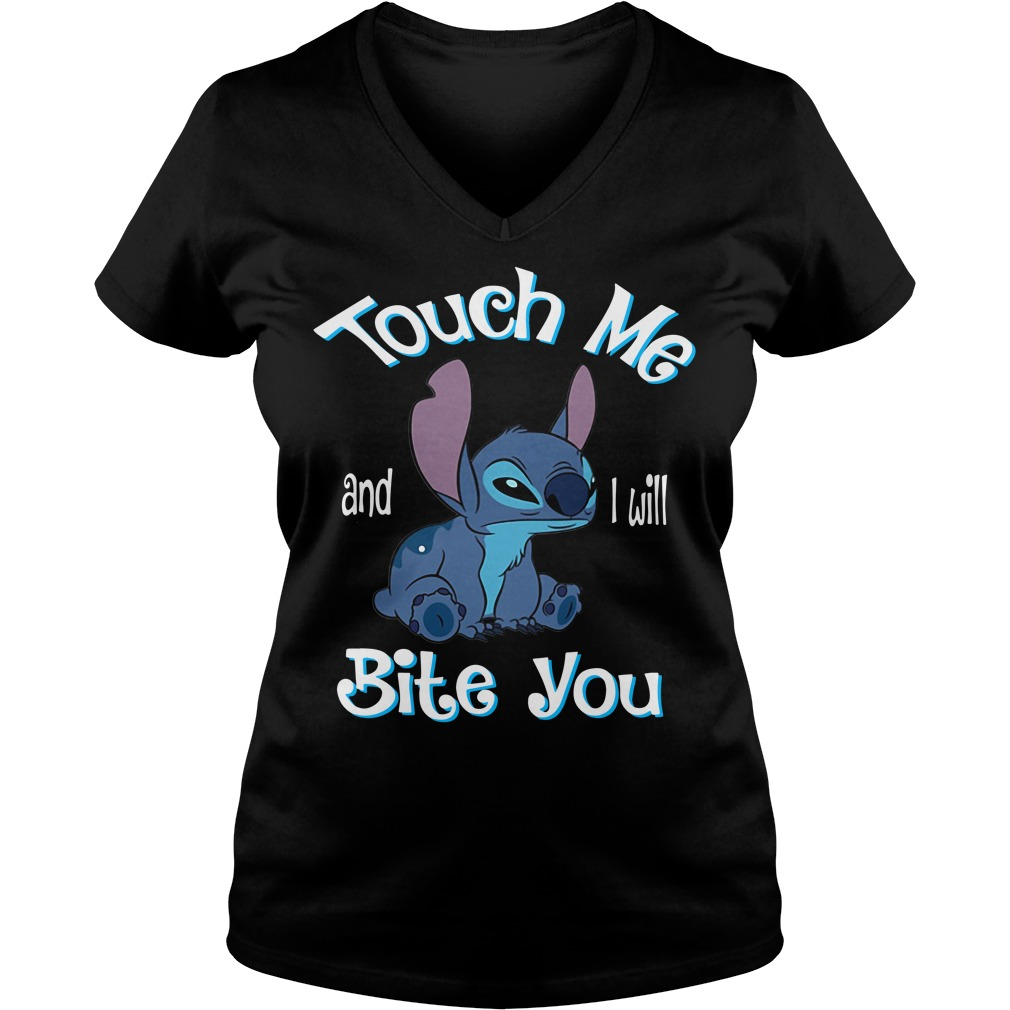 Stitch touch me and I will Bite you V-neck T-shirt