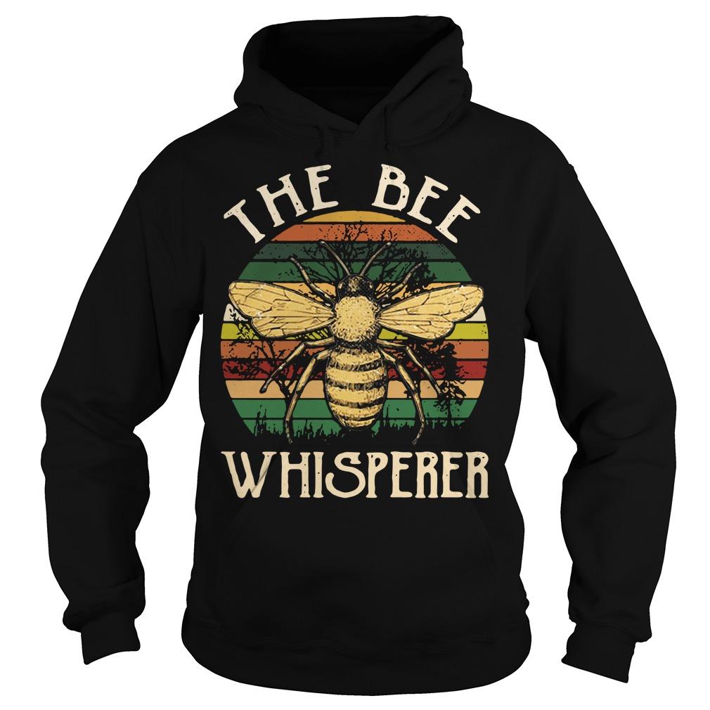 The bee whisperer sunset retro Hoodie