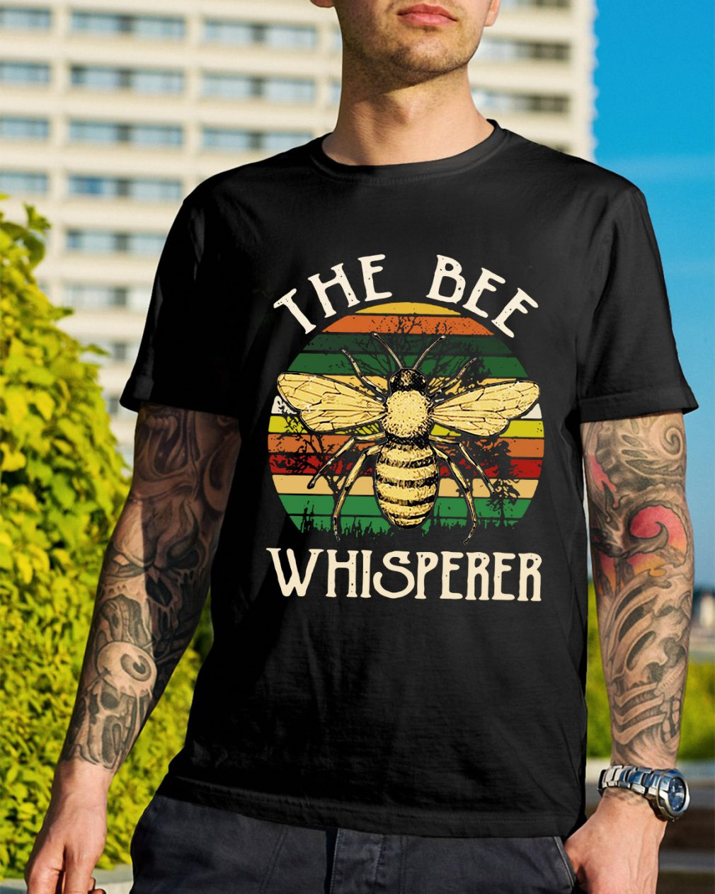 The bee whisperer sunset retro shirt